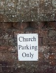 church-parking-sign